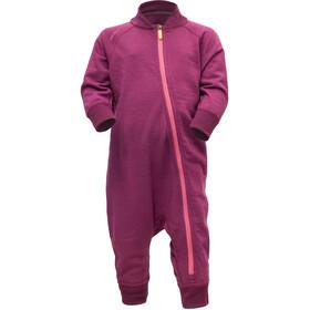 Devold Nibba Wool Strampelanzug Säugling plum